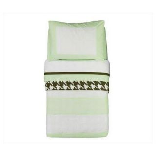 Metro Lime, White and Chocolate Toddler Bedding Collection