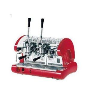 La Pavoni Bar Series Commercial 2 Group Espresso Machine in Red