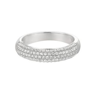 Rocks Sterling Silver Micro Set 104 Cubic Zirconium Band Fashion Ring