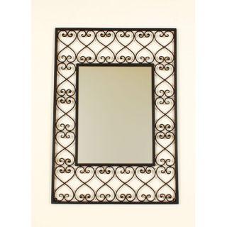 Ashton Sutton Rectangular Wrought Iron Wall Mirror   SF100565