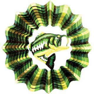 Iron Stop Designer Bass Fish Wind Spinner