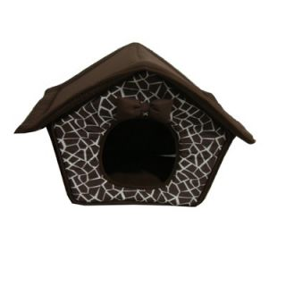 Best Pet Supplies Mosaic House Pet Bed in Brown