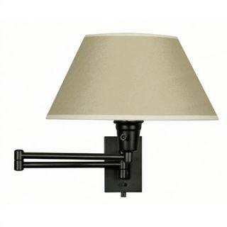Kenroy Home Simplicity 12 Swing Arm Wall Lamp in Black   30110BLKP