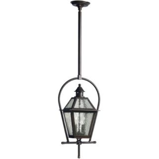 Traditional Outdoor Pendant Light in Peruvian Bronze   Z3321 112