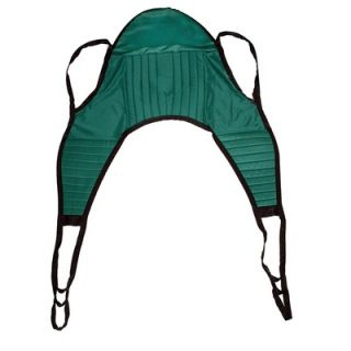Drive Medical 600 lbs Padded Patient Lift U Sling in Green with Head