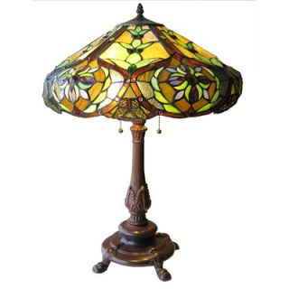 Tiffany Style Victorian Table Lamp with 114 Cabochons   CH19817TL