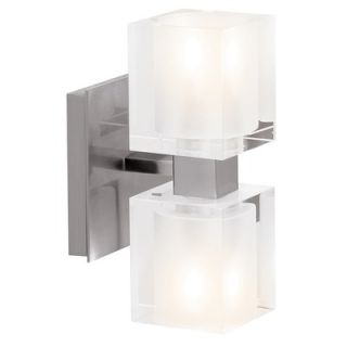 Access Lighting Astor Vanity Light Frosted Crystal Glass in Brushed