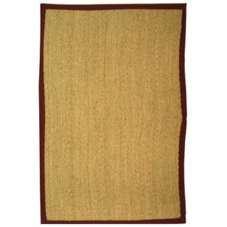Safavieh Natural Fiber Natural/Light Red Rug   NF115D RE