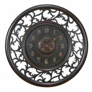 UMA Enterprises Toscana Wood Wall Clock with Beautiful Hand Carved