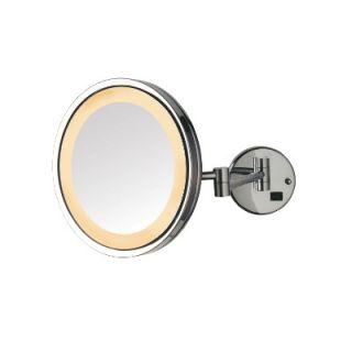 Jerdon 5X LED Halo Light Wall Mounted Mirror   HL1016CL / HL1016NL