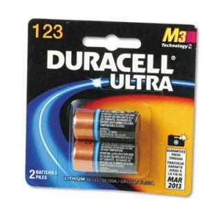 Ultra High Power Lithium Battery, 123, 3V, 2/Pack   DURDL123AB2BPK