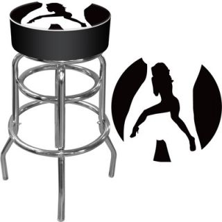 Trademark Global Shadow Babes   C Series   High Grade Padded Bar Stool