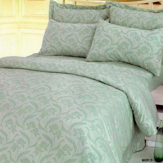 Le Vele Madrid Bamboo 6 Piece Full / Queen Duvet Cover Bedding Set