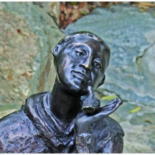 Brass Baron St. Francis Garden Statue
