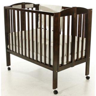 Dream On Me 2 in 1 Portable Folding Crib in Espresso