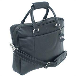 Mercury Luggage Sondrio Leather Portfolio in Black   L5113 bk