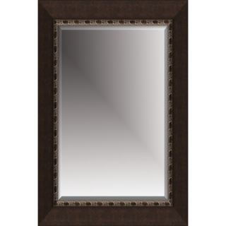 Michael Payne Beveled Mirror with Polystyreen Frame in Coffee