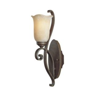 Feiss Tuscan Villa One Light Wall Sconce with Beige Glass in