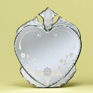 Venetian Gems Heart Venetian Table Mirror