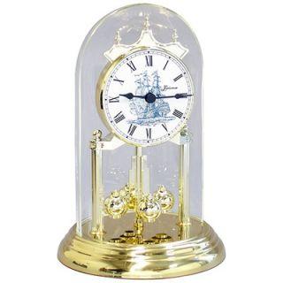 Loricron Quartz Time Only German Anniversary Clock Historic Sailing