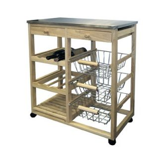 ORE Kitchen Cart with Stainless Steel Top