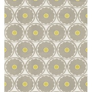 Brewster Home Fashions Echo Design Retro Flower Wallpaper in Gray