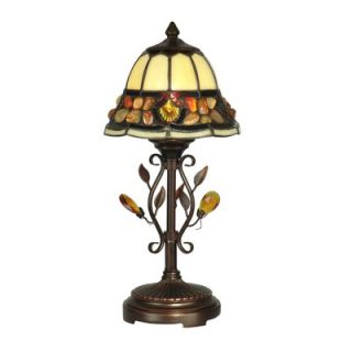 Dale Tiffany Pebblestone Accent Table Lamp in Antique Golden Sand
