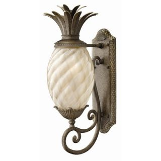 Hinkley Lighting Plantation Outdoor Wall Lantern in Pearl Bronze with