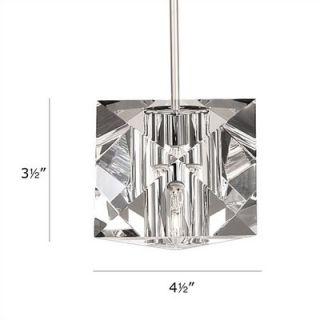WAC Crystal Prisma 1 Light Mini Pendant   QP940 CL