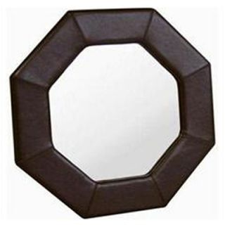 Wholesale Interiors Edgar Octagon Leather Frame Mirror   A 58 J001