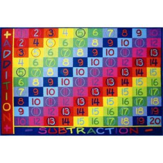 Fun Rugs Fun Time Addition Classroom Kids Rug   FT   142