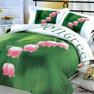 Le Vele Valley Lily 6 Piece Full / Queen Duvet Cover Bedding Set