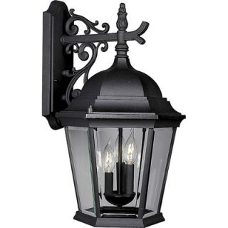 Progress Lighting Welbourne Outdoor Wall Lantern in Black   P5690