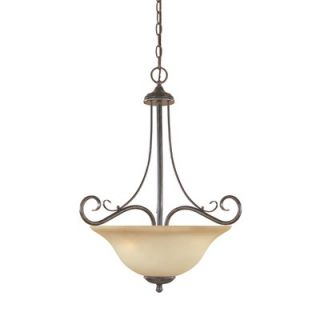 Designers Fountain Stratton 3 Light Inverted Pendant   98031 SP