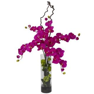 Nearly Natural Giant Phalaenopsis & Hydrangea Silk Flower Arrangement
