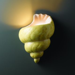 Justice Design Group Ambiance Conch Shell Wall Sconce   CER 3700