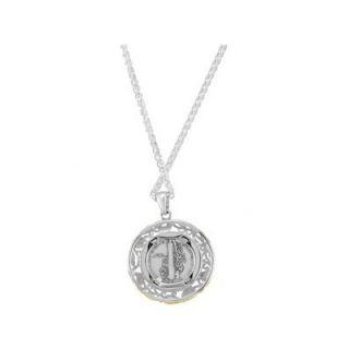 Jewelryweb Sterling Silver Mercury Dime Set Into a Gold Pendant24