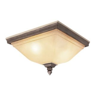 TransGlobe Lighting Rustic Tea Branch 3 Light Flush Mount