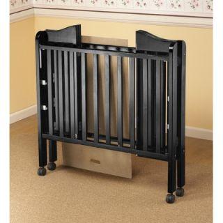 Orbelle Three Level Portable Crib in Black