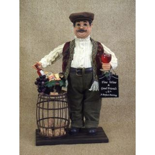 Karen Didion Classic Home Wine Barrel Cork Collector Figurine   ED17