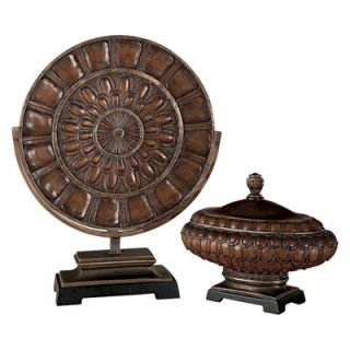 Minka Ambience Charger Plate and Decorative Box Set in Rustic Bronze