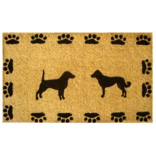 Imports Decor Dog with Paws Doormat