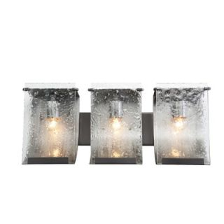 Varaluz Recycled Rain Bath Light   Three Light in Rainy Night