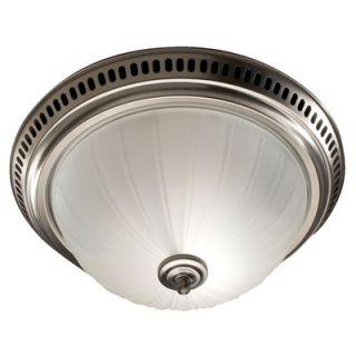 Broan Nutone Decorative Bathroom Fan with Light in Satin Nickel