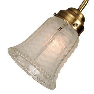 25 Neck Clear Frost Glass Bell Shade with Basket Weave Pattern   170