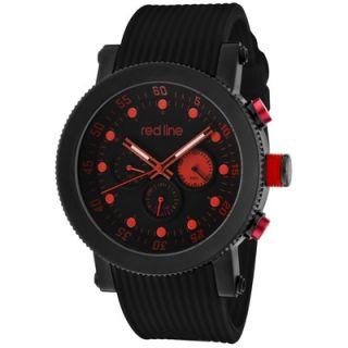 Red Line Mens Compressor Silicone Round Watch   18101 01BB