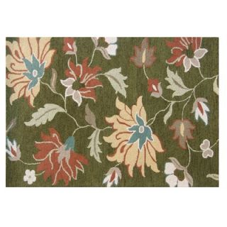 Home Decor Inc. Tuscany Green Floral Rug