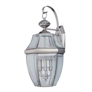 Sea Gull Lighting Classic Outdoor Wall Lantern in Antique Brushed
