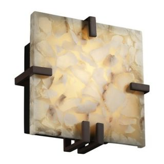 Justice Design Group Alabaster Rocks Clips One Light 18W Wall Sconce
