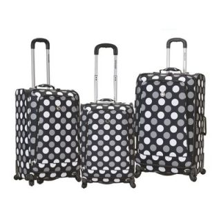 Rockland Fusion 3 Piece Monte Carlo Spinner Luggage Set